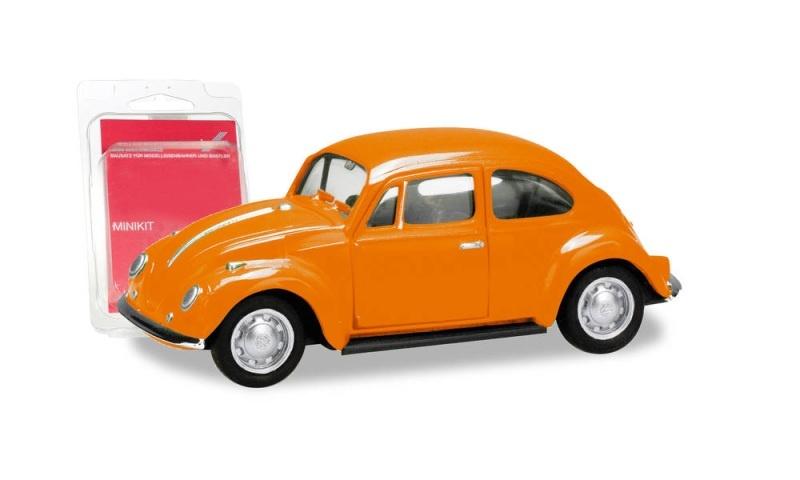 Minikit VW Käfer, orange, 1:87 / H0