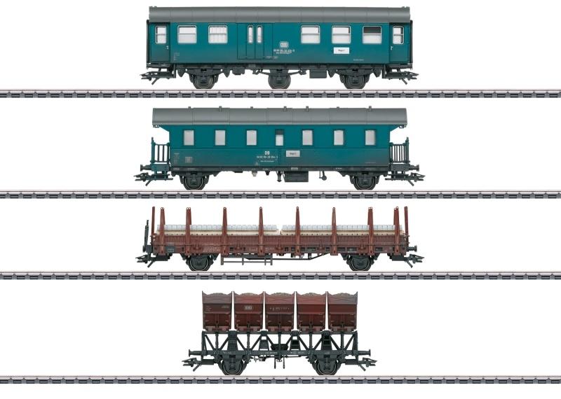 Wagen-Set Bauzug der DB, AC Spur H0