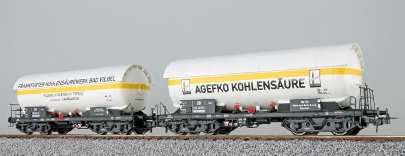 Gas-Kesselwagen Set, ZAG 620, Frankf. Kohlensäure, DB, DC H0