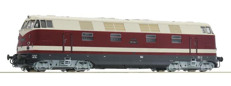 Diesellokomotive 118 548-7 der DR, Sound, DC, Spur H0