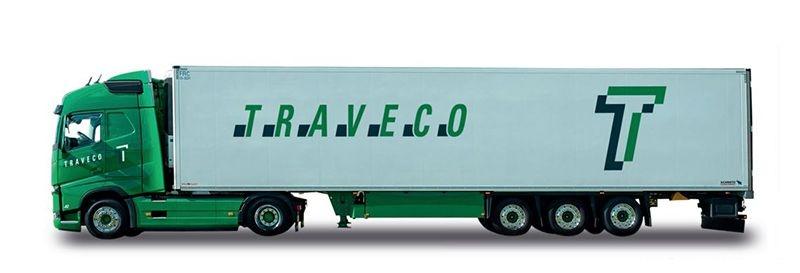 Volvo FH Gl. Kühlkoffer-Sattelzug Traveco, 1:87 / Spur H0