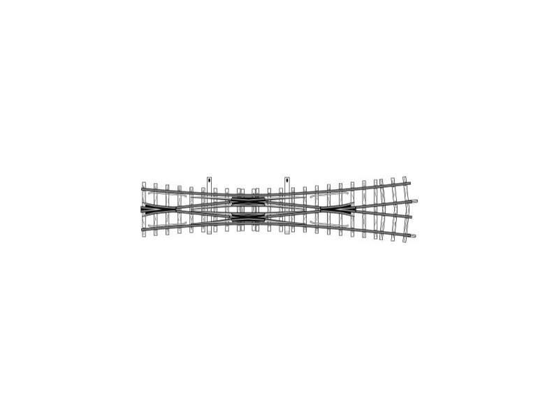 Doppelkreuzungsweiche gekürzt, 12°, 182 mm, Spur H0m