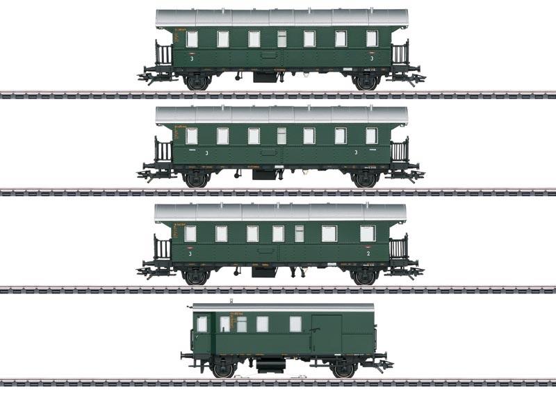 Personenwagen-Set mit Steuerwagen, AC, Spur H0