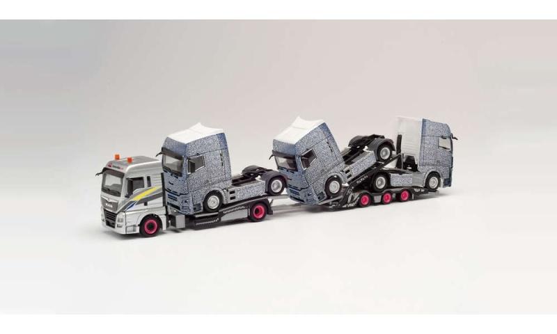 MAN TGX XLX Euro 6c LKW-Transporter-Hängerzug, 1:87 / H0