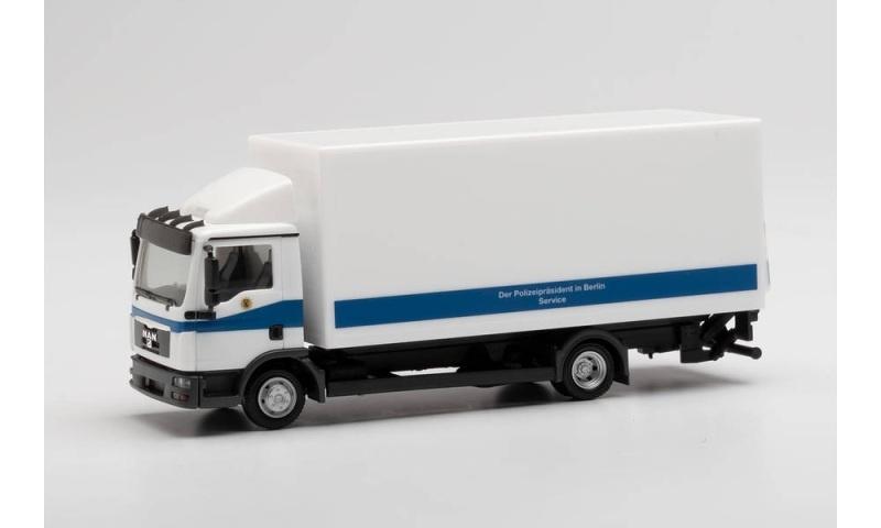 MAN TGL Koffer-LKW mit Ladebordwand Polizei Berlin 1:87 H0