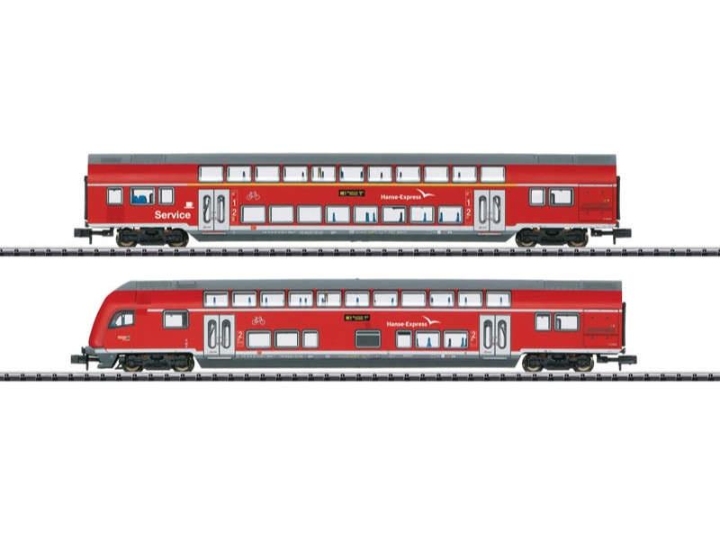 Doppelstockwagen-Set Hanse-Express  DB AG Spur N