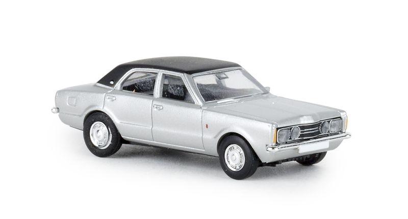 Ford Taunus GXL silber, schwarz, TD, 1:87 / Spur H0