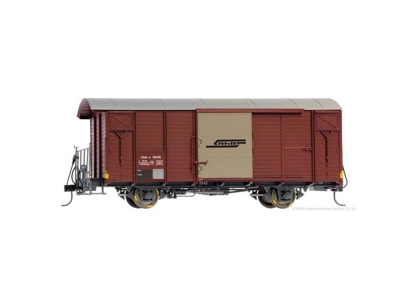 Gedeckter Güterwagen Gbk-v 5545 braun der RhB, Spur 0m