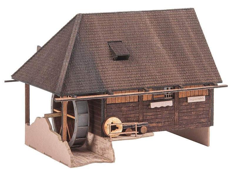 Mühle Hübschental Lasercut-Modell Bausatz H0