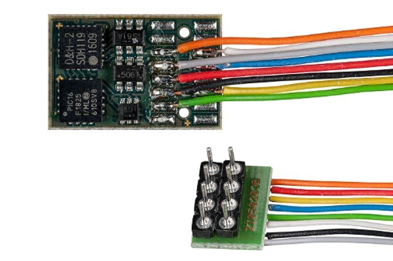 Fahrzeugdecoder DH16A mit Anschlusskabel für NEM 652