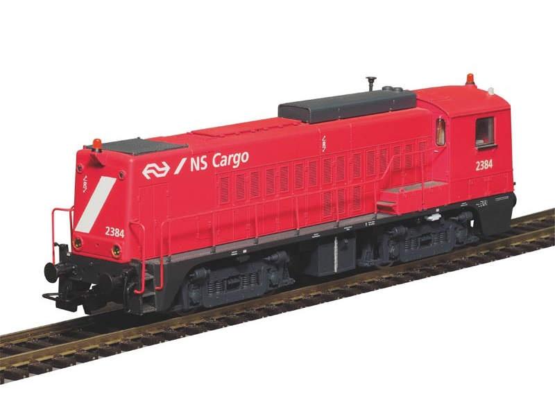Diesellok Rh 2200 der NS, rot, Epoche IV, Spur H0