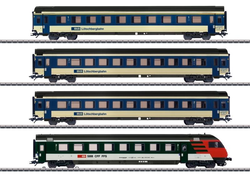 Schnellzugwagen-Set EW IV der BLS, AC, Spur H0