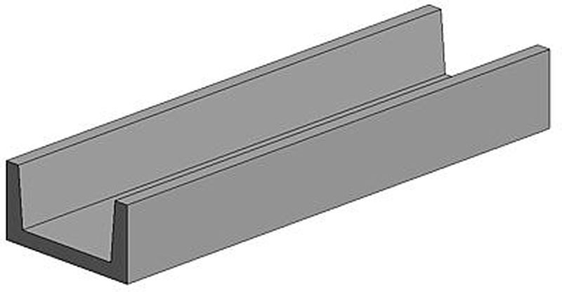 U-Profil, 3,2 x 350 mm (4)