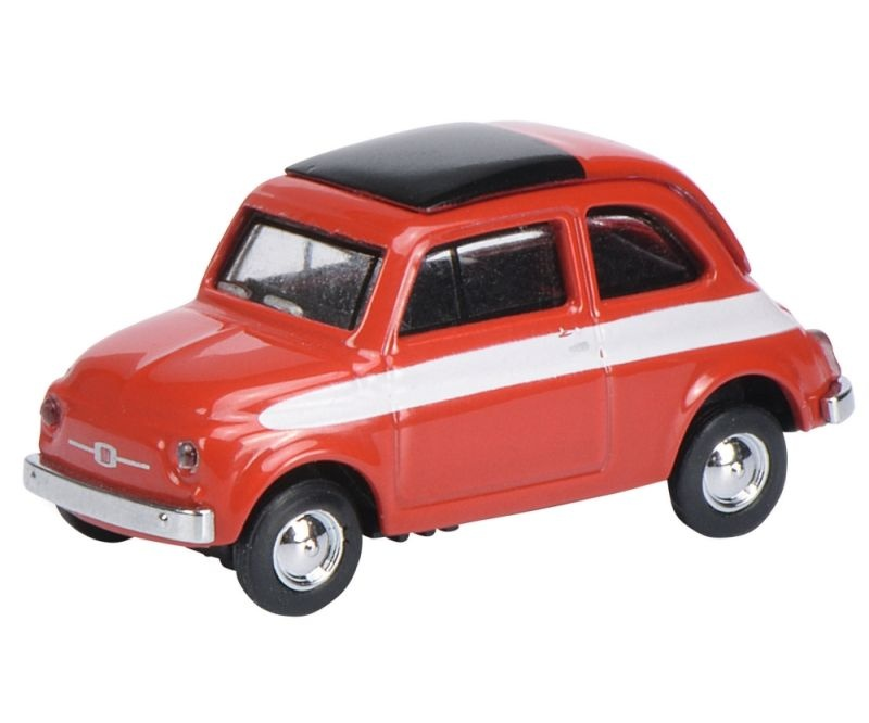 Fiat 500 Rallye, rot 1:87 / Spur H0