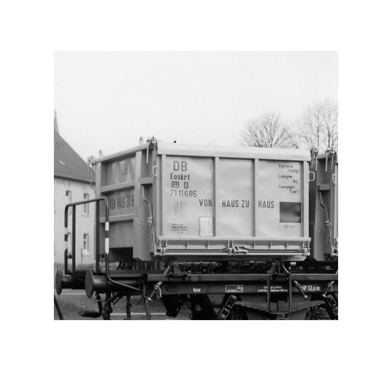 Offener Mittelcontainer der Bauart Eoskrt 022, Spur H0