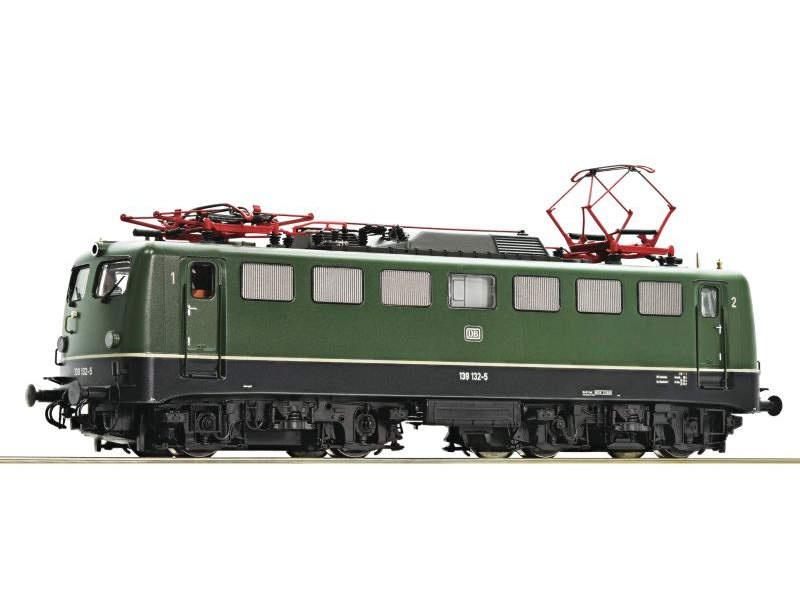 Elektrolokomotive 139 132 grün der DB, DC, Spur H0