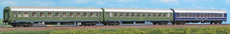 Personenwagen Dalmacija Express JZ, 3-teilig, Set 1, Spur H0