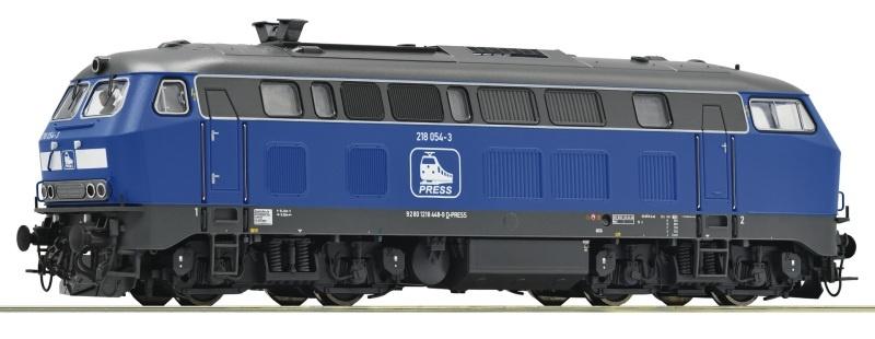 Diesellokomotive 218 054-3 der PRESS, Sound, AC, Spur H0