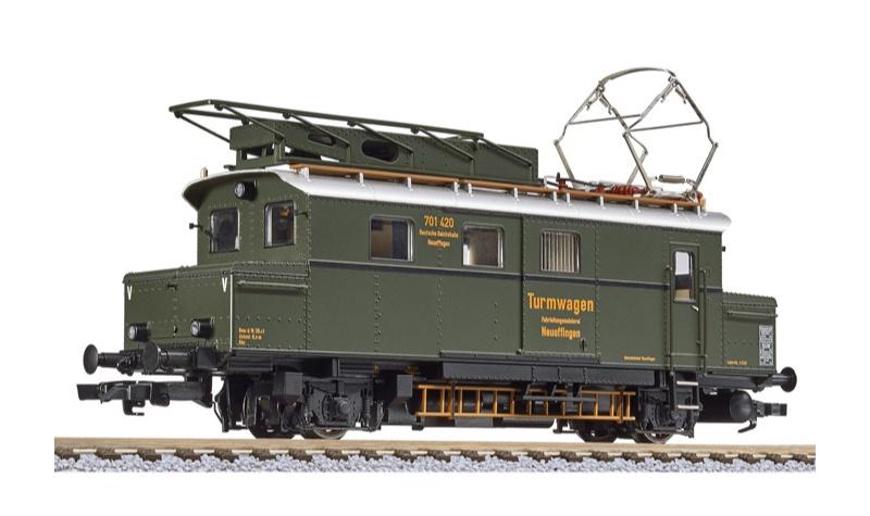 Akku-Turmtriebwagen 701 420 der DRB, braungrün, DC, H0
