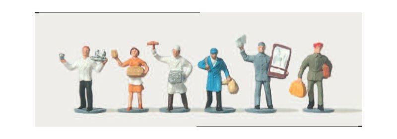Verkäufer und Dienstmänner Figuren 1:160 / Spur N