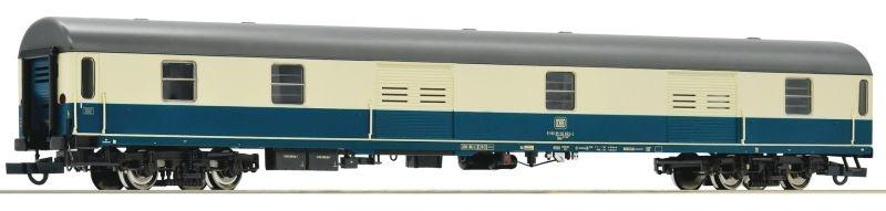 Gepäckwagen Dms 905 der DB ozeanblau/beige, Spur H0