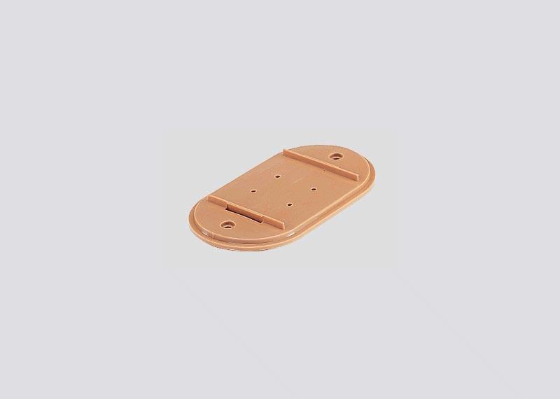Unterlegplatte 2,5 mm als Fundament für Brücken H0