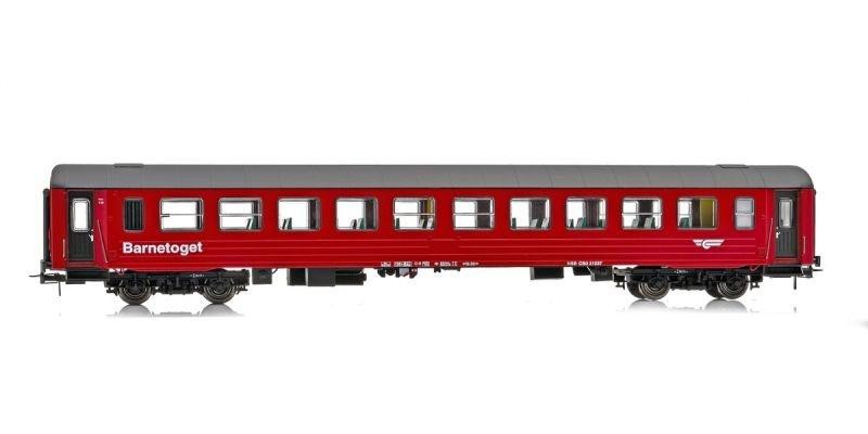 Topline Salonwagen CB3 21237 Barnetoget der NSB, rot, H0
