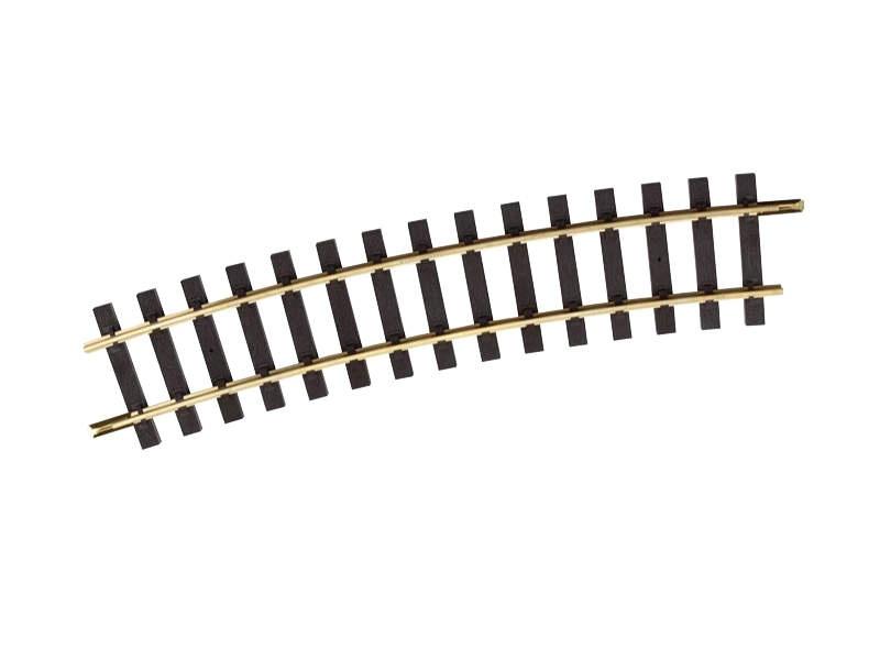 Gleis gebogen R7 15°, Spur G