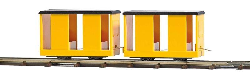 Zwei Mannschaftswagen, Spur H0f Feldbahn