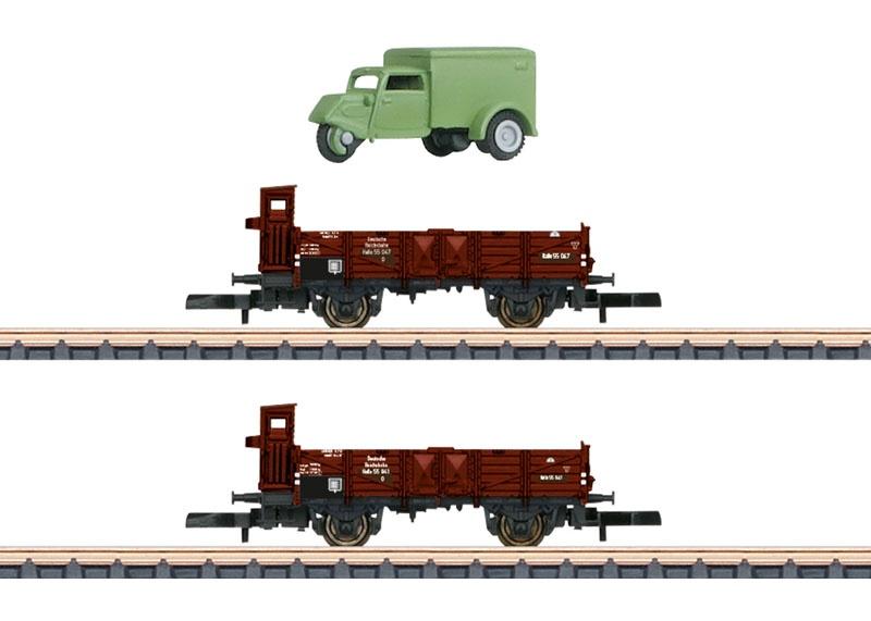 Güterwagen-Set 0 10 der DRG, Spur Z