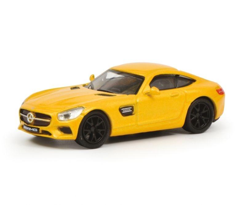 Mercedes AMG GT, gelb, 1:87 / Spur H0