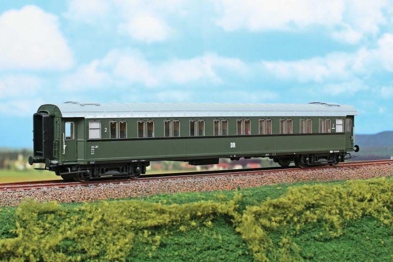 Personenwagen 2. Klasse Typ Büp 203-307 der DR, Ep.III, H0