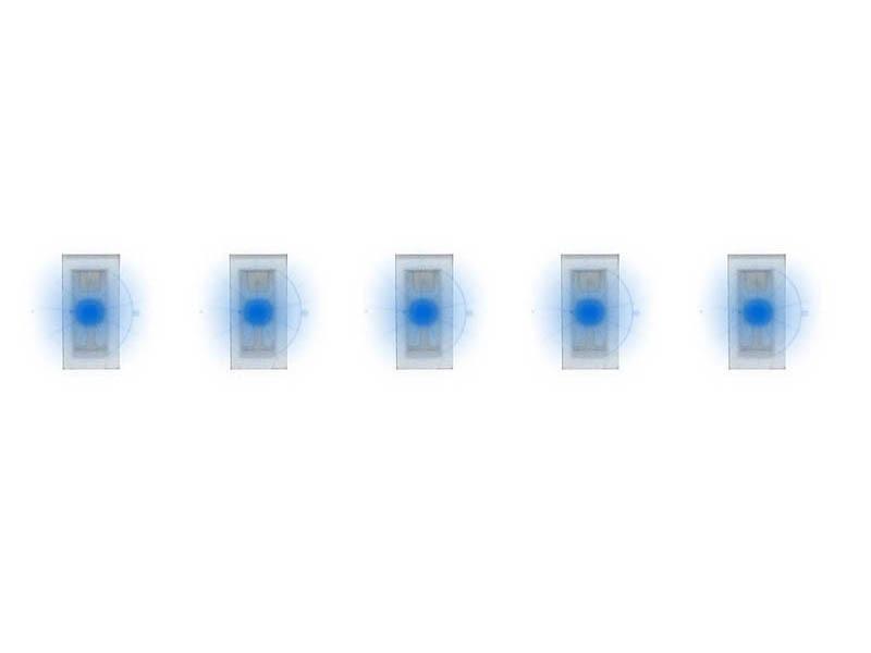 5 SMD-LEDs, blau H0, TT, N, Z