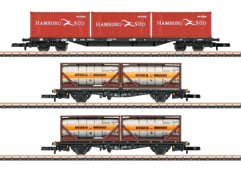 Containertragwagen-Set der DB AG, Spur Z, MHI