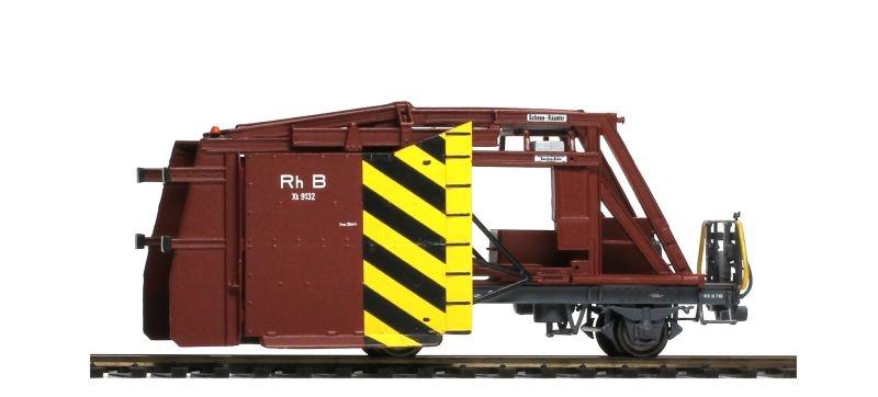 RhB Xk 9132 Räumpflug - Exklusivmodell 2020, Spur H0m