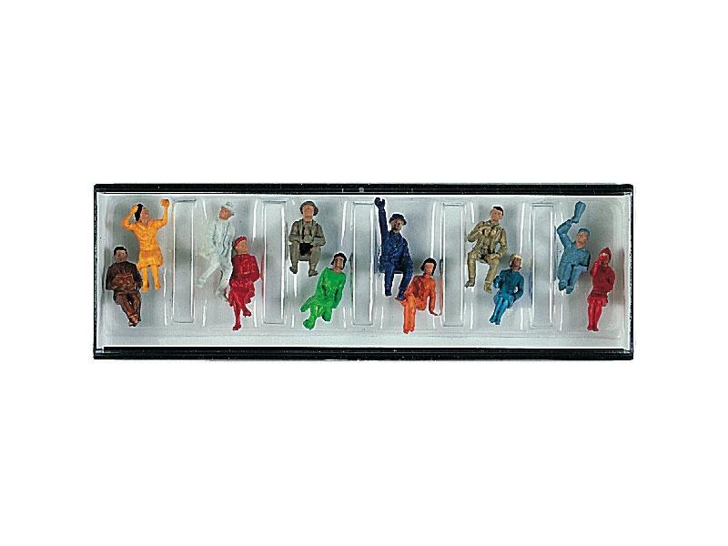 Figurensatz mit 12 sitzenden Reisenden H0