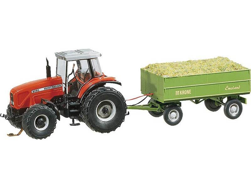 MF Traktor mit Anhänger Car System (WIKING) H0