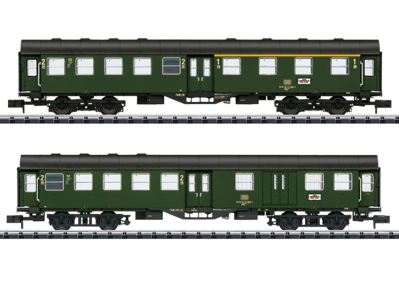 Nahverkehrswagen-Set Umbauwagen DB, Minitrix Spur N