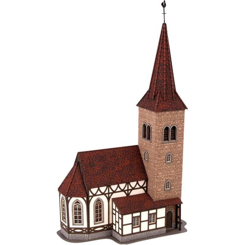 Kirche St. Georg mit micro-sound Glockenläuten Spur H0