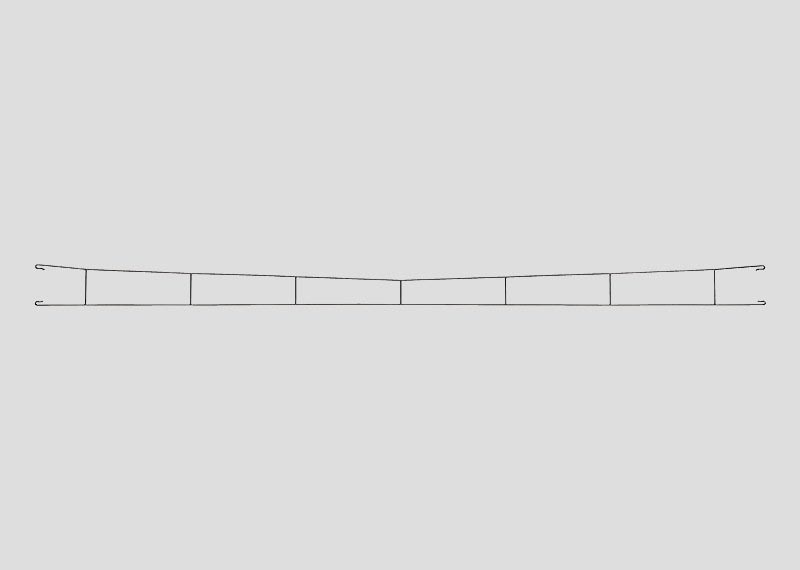 Fahrdraht 360,0 mm (5 Stück) H0