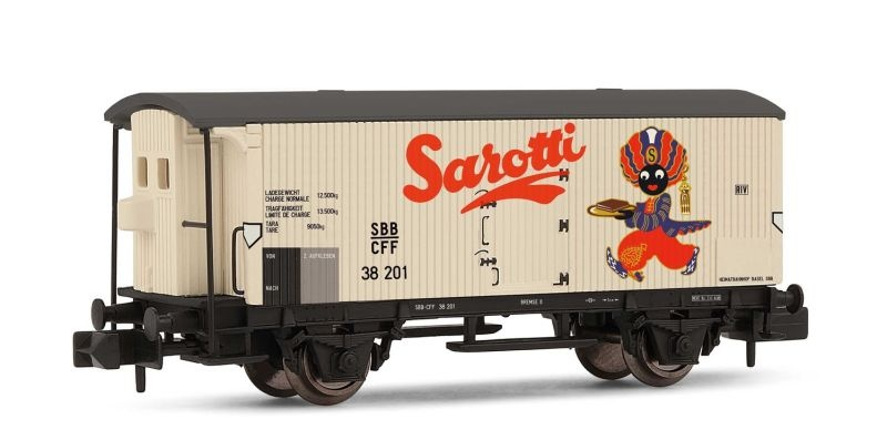 2-achsiger Kühlwagen Sarotti der SBB, Ep. III, Spur N