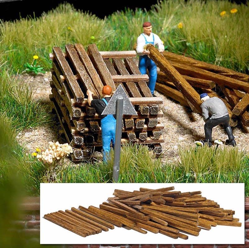 Bauholz (100 Stück), Spur H0
