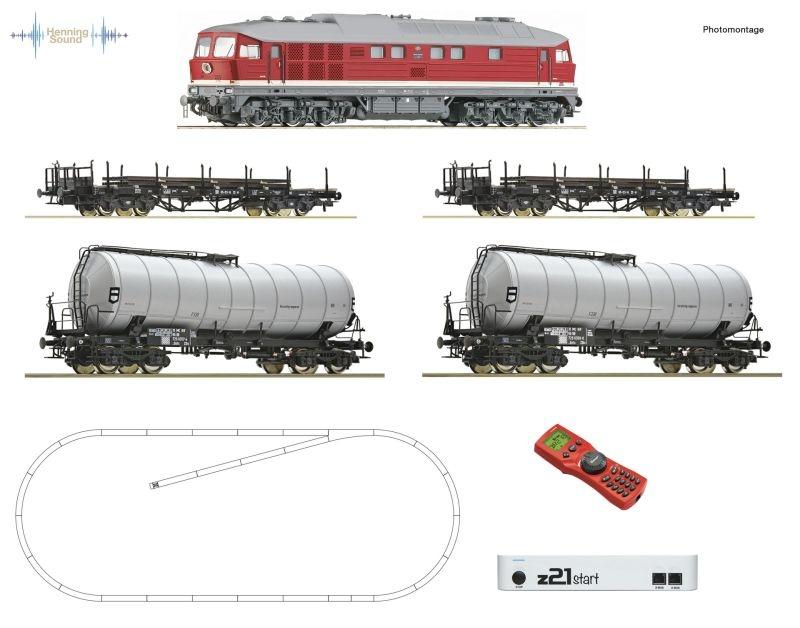 z21 start Digitalset: Diesellok BR 142 Güterzug DR Sound H0