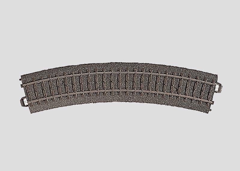 Gebogenes Gleis Radius 1=360 mm 30° Spur H0 C-Gleis