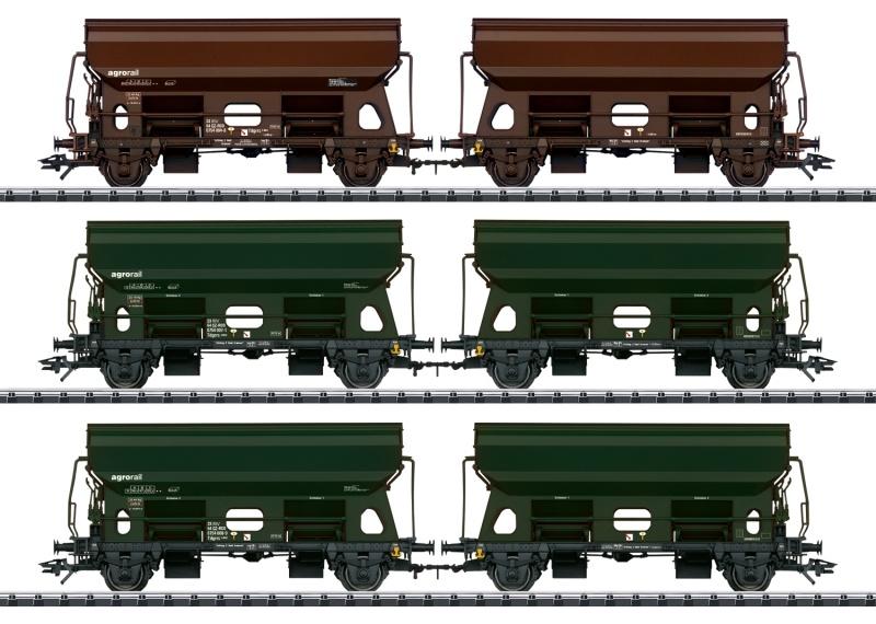 Schwenkdachwagen-Set der Railco A.S., DC, Spur H0