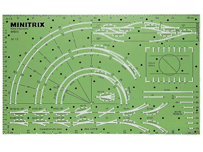 Minitrix Gleisschablone Spur N