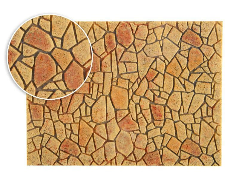 Polygonalplatte, mediterran,  28 x B 16,3cm, Spur H0