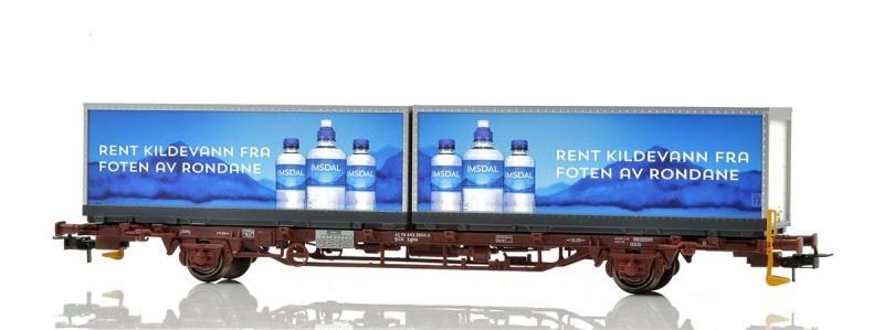 Topline CargoNet Lgns Containertragwagen, Imsdal, H0