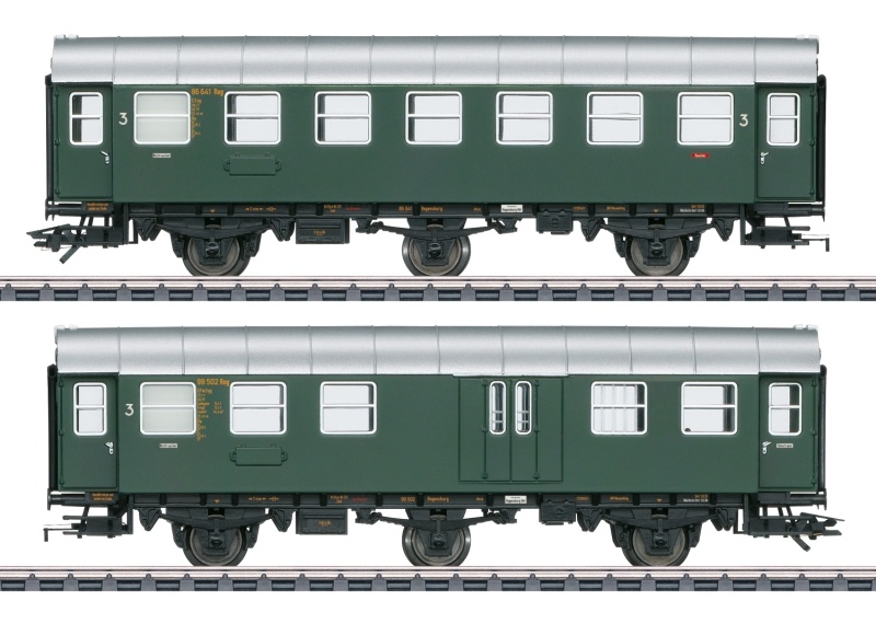 Umbauwagen C3yg 3. Klasse und CPw3yg 3 der DB, AC, Spur H0
