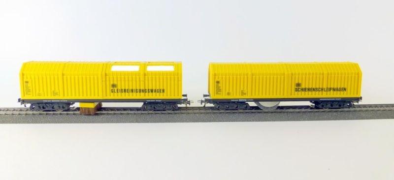 Gleisstaubsauger +Schienen- & Oberleitungsschleifwagen DC H0